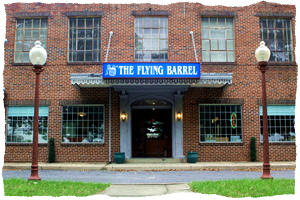 The Flying Barrel Store Front. 1781 N. Market Street. Maryland Homebrew shop.